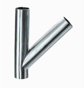 卫生级焊接45°Y型三通