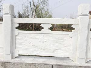 制作漢白玉石欄桿 漢白玉欄桿定制 石欄桿加工